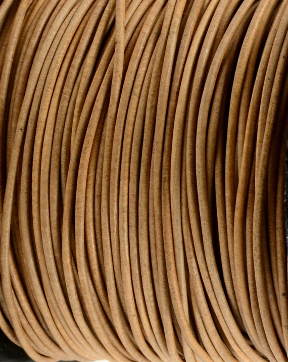 Natural Light Brown Leather Cord 1mm Genuine Leather Cord