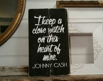 Johnny Cash song lyrics - I Keep A Close Watch On This Heart Of Mine - FREE SHIPPING