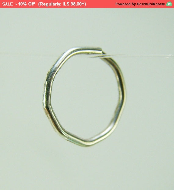 geometric silver septum septum ring silver by
