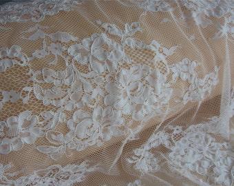 Wedding lace fabric | Etsy