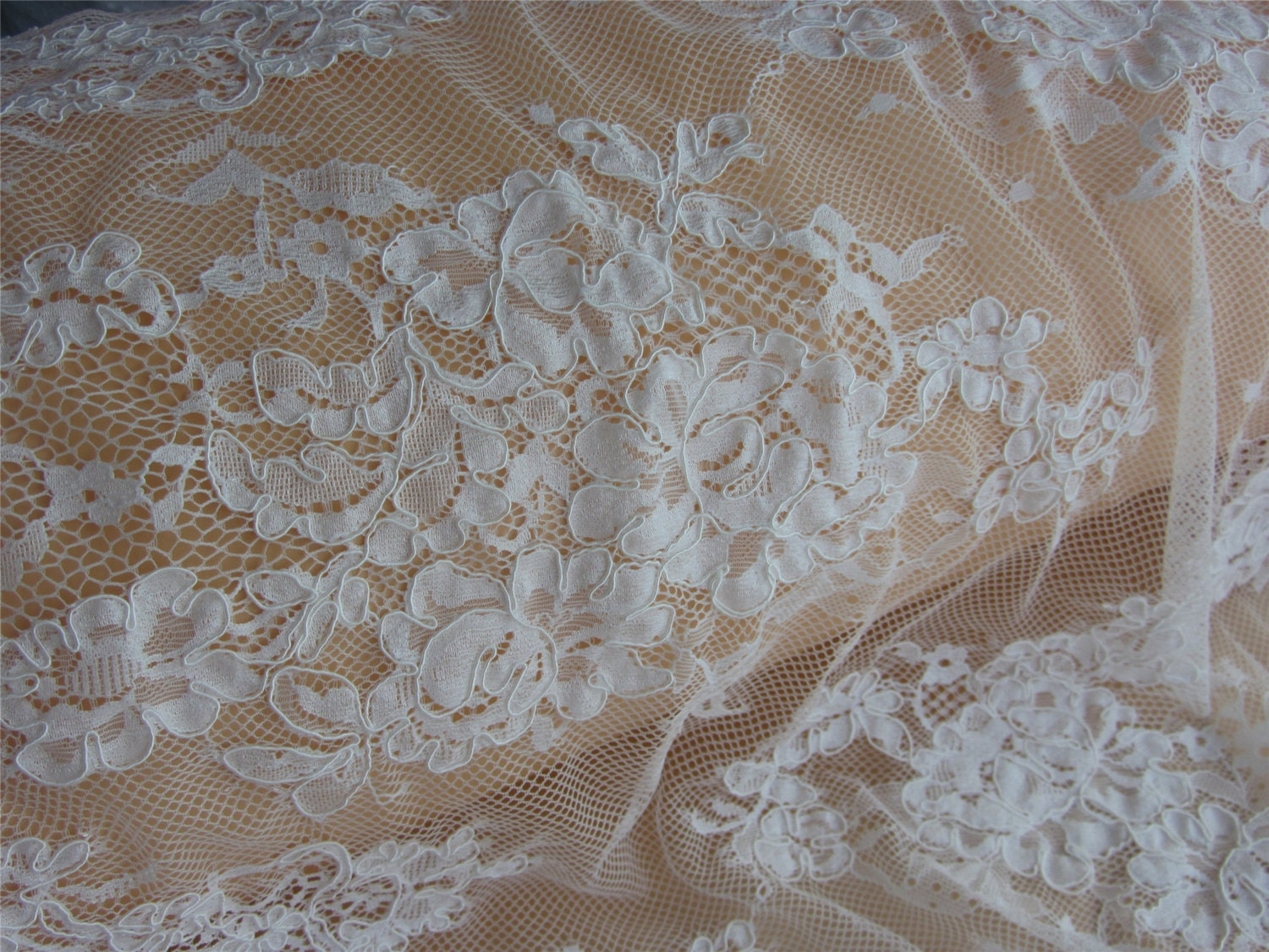 55 off white wedding lace fabric ivory lace fabric for Bridal fabric