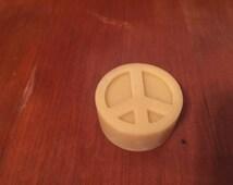Set of 5 Lotion bars. Peace sign lotion bars. All-natural lotion. Beeswax lotion bar.