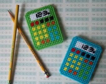 Plastic Canvas: Back to School Magnets -- Calculators (set of 2)