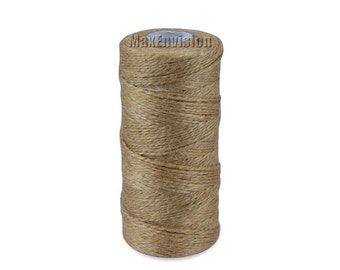 Natural 2-Ply Twisted 100% Natural Hemp Cord Jute Twine Rope Industrial Packing Materials for Gardening Applications 300 Feet M001