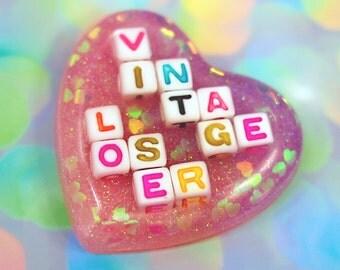Vintage Loser Pastel Heart Sticker / Pastel Goth Vintage Loser Sticker Kawaii Sticker VintageLoser Laptop Sticker Art Stickers Cute Stickers