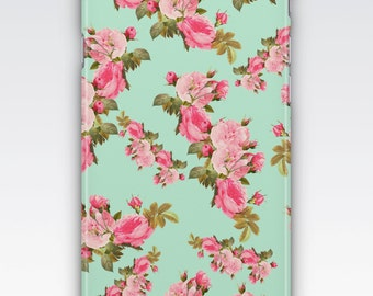 Case for iPhone 8, iPhone 6s,  iPhone 6 Plus,  iPhone 5s,  iPhone SE,  iPhone 5c,  iPhone 7,  Vintage Pink Floral Pattern iPhone
