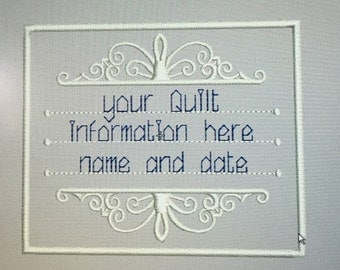 Custom quilt  label