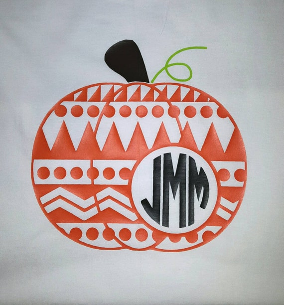 Monogram pumpkin shirt by rileybethcustomized on etsy for Monogram pumpkin templates