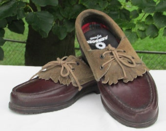 Size 8 Deck Shoes, Duck Shoes, Leather Casual Shoes, Loafers, Lace up Shoes, Perfect Condition, Made in Canada by WEATHERGUARD, Size 6 UK