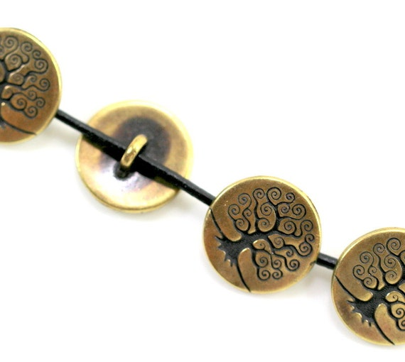 Tree of life buttons tierracast buttons metal shank for Buttons with shanks for jewelry