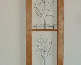"""Frame #110 - Recycled Window Frame Sculptures -  12.5"""" x 58.5"""""""