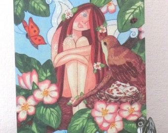 "Large Fairy/faerie Art Greeting Card 8""x 6"" by wendy wadge"