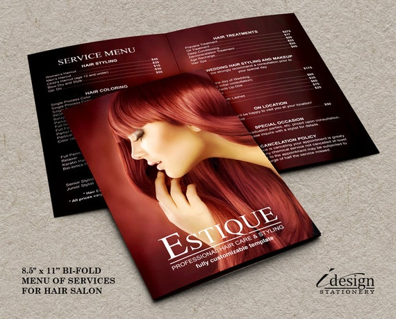 Items similar to hair salon service price list for Academy for salon professionals price list