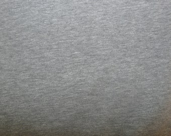 Fabric - cotton sweatshirt jersey fabric - grey marl