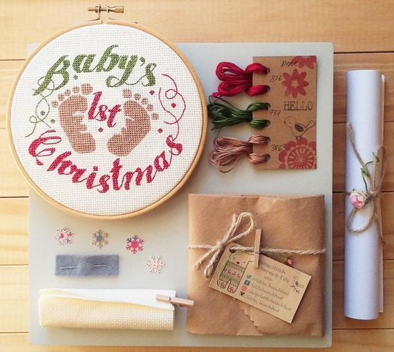 Babys First Christmas Gifts: Cross Stitch Kit Baby's First Christmas Baby Gift New
