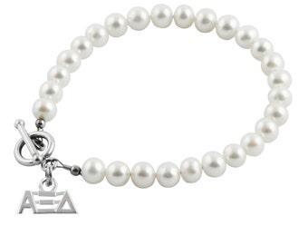 Alpha Xi Delta Pearl Bracelet, AXD-6132