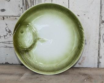 French Majolica / Fish Plate / Orchies / Fine Dining / Moulin Des Loups / Majolica / Majolica Plate / Antique Majolica / Fish Plates