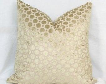 Tan geo velvet pillow cover 18x18 Velvet pillow 20x20 22x22 24x24 26x26 Velvet euro sham Velvet lumbar Robert Allen pillow Beige velvet
