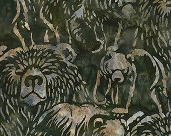 Robert Kaufman Artisan Batik Wildlife Sanctuary 3 Collection Nature Bear Batik Fabric by the Yard AMD-15553-268