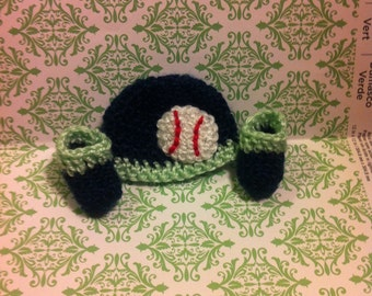 Micro Preemie Hat and Booties, Baseball Hat and Booties, Other Sizes Available by Request
