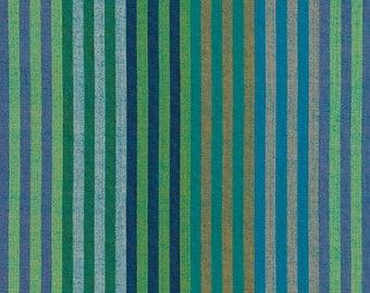 1/2 yard of Kaffe Fassett Caterpillar Aqua Striped  Fabric