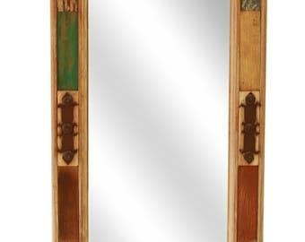 San Miguel Reclaimed Wood Mirror--18x33 in-Western-Repurposed-Primitive-Western-Vintage-Re Purposed-Vanity Mirror