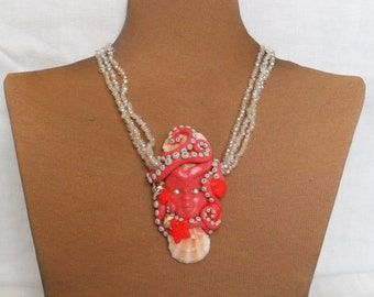 Sea Goddess Necklace with  Shells