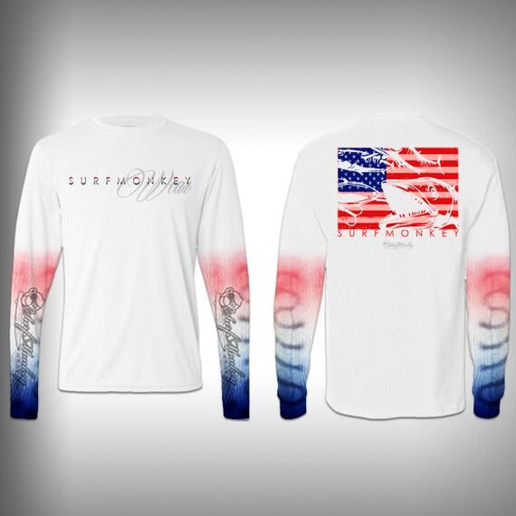 Mens tshirt unisex tshirt kingfish fish scale sleeve custom for Fish scale shirt