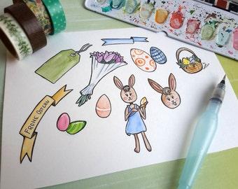 Stickersheet   Easter