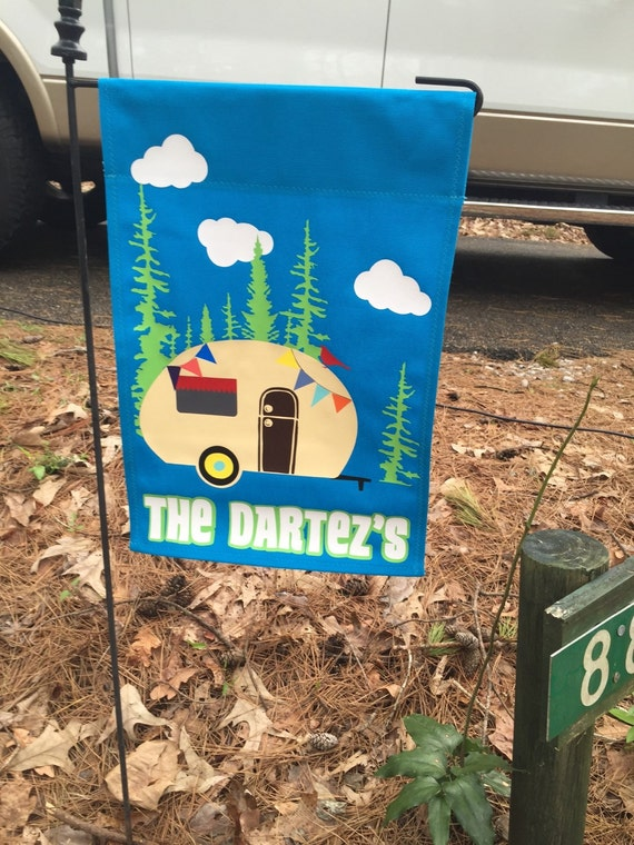 Personalized Camping Flag With Banner