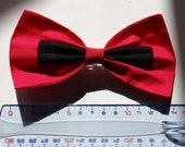 Black and Red Bow Hair Clip