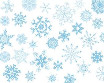 Instant Download Digital Blue Snowflake Clip Art Snowflake Clipart Christmas Clip Art Christmas Scrapbooking Blue Snowflake 0386