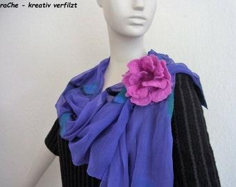 felted scarf - shawl - chiffonshawl