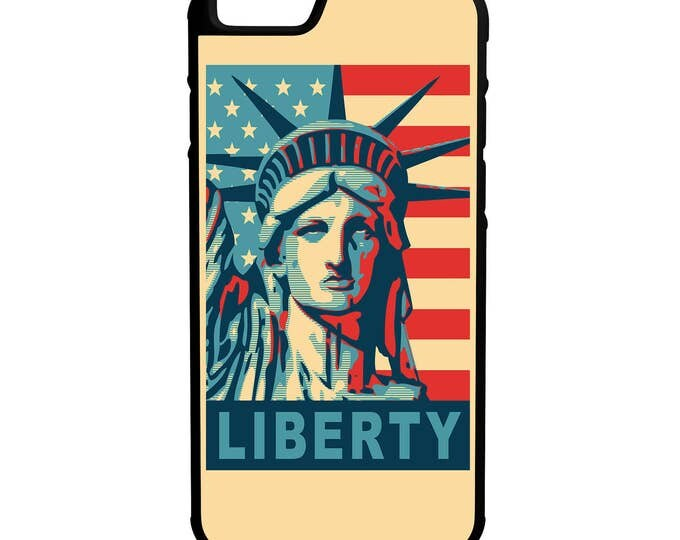 Lady Liberty  iPhone Galaxy Note HTC LG Hybrid Rubber Protective Case American Flag