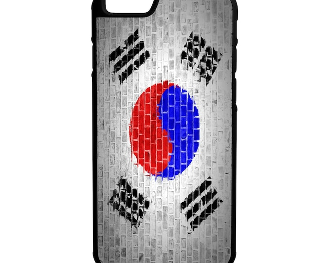 South Korean Flag Brick Wall iPhone Galaxy Note LG HTC Hybrid Rubber Protective Case