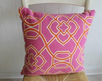 "Fashionable Pink Orange Pillow Cover Cushion 17""x17"""