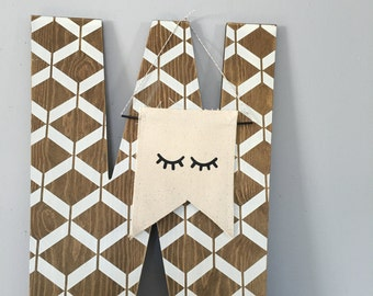 Sleepy Eyes Banner Wall Hanging - Two sizes available
