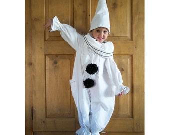 Pierrot Clown Costume Child