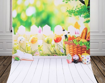 Spring Vinyl Backdrop,newborn photography background D-9971
