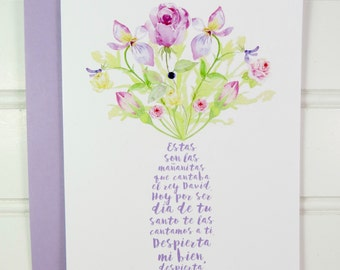 Spanish Birthday Card, Card for Nanny, Mother, Mom, Babysitter, Grandmother, Sister, Daughter, Wife, Aunt, Girlfriend, Friend, Abuela, Niece