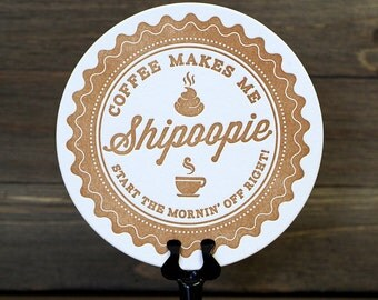 Shipoopie Letterpress Coasters