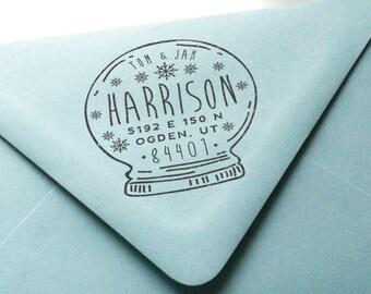 Custom Return Address Rubber Stamp - Holiday No. 3
