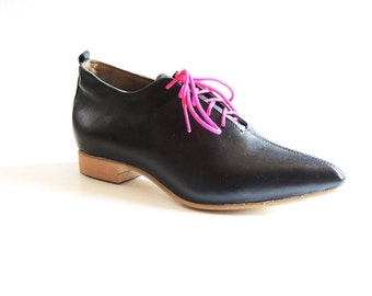 Carrie Black Leather Oxford
