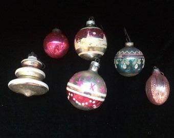 Very Vintage Glass Tree Ornaments