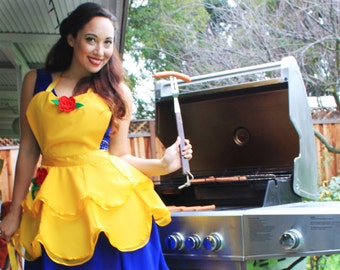 Beauty and the Beast inspired Retro Pinup Apron