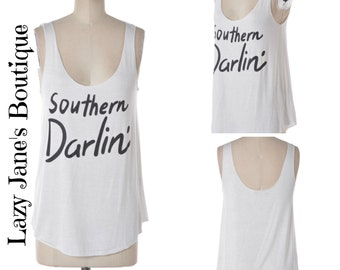 Southern Darlin' Tank (SALE - ORIGINALLY 19.00)