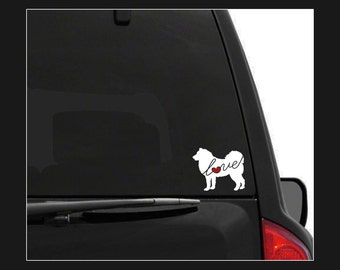 Akita Love: A Car Window Vinyl Decal - Laptop Sticker - Dog Breed Decals - Dog Stickers - Cooler Decal - Gift for Dog Lover