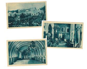 Algiers Algeria vintage postcard | Governor's Summer Palace of Deys | 1920s Algerian decor, Ottoman Empire history | SET OF 3