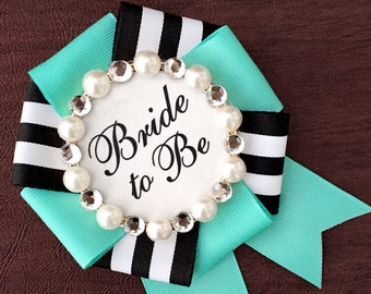 bride to be badge - tiffany prep