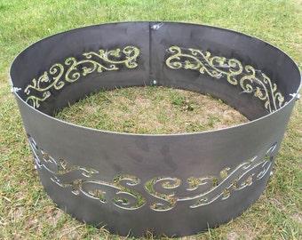 Metal Fire Pit/Fire Ring - Swirls